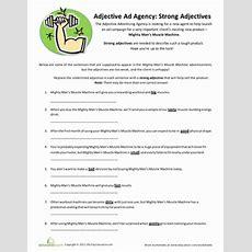 Strong Adjectives  Worksheet Educationcom