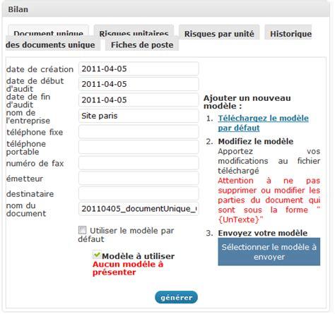 modèle document unique word modele document unique word