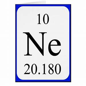 Element 10 card - Neon | Zazzle