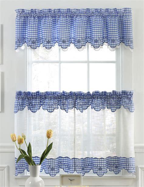 provence kitchen curtains blue lorraine sheer