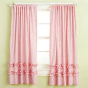 kids curtains kids light pink ruffle curtain panels 63