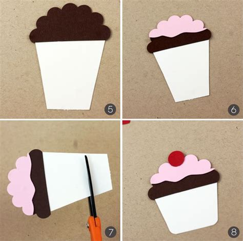 easy birthday card template best 25 cupcake card ideas on