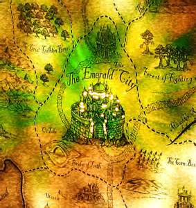 Map of Oz Emerald City Wicked
