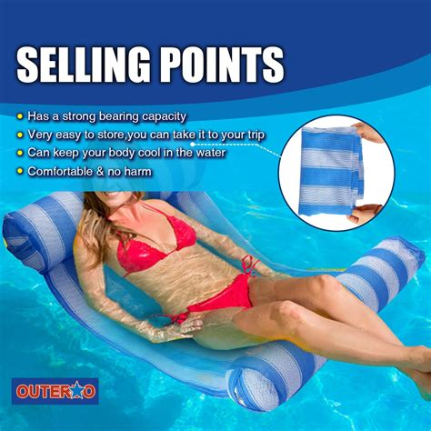 Water Hammock Pool Lounger by Outerdo Water Hammock Pool Lounger Float Hammock