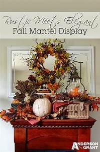 Rustic, Meets, Elegant, Fall, Mantel, Display