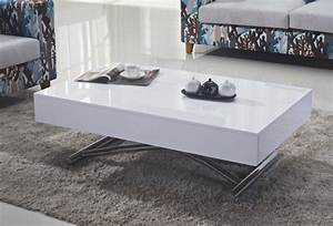 Table Basse Blanc Design Table Basse Blanc Laqu With