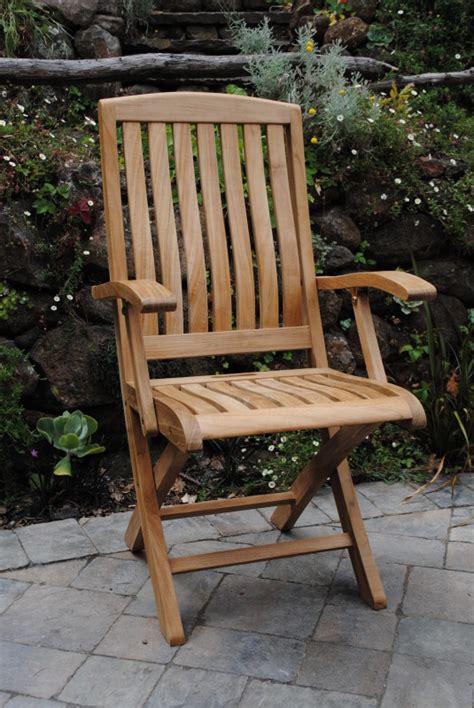 yountville folding arm chair paradise teak