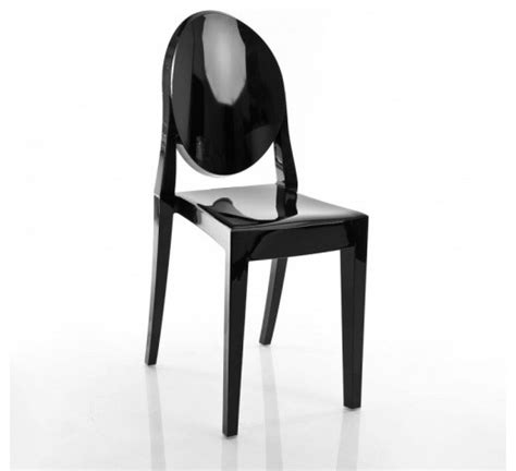 ghost chair set of 2 matte glossy black