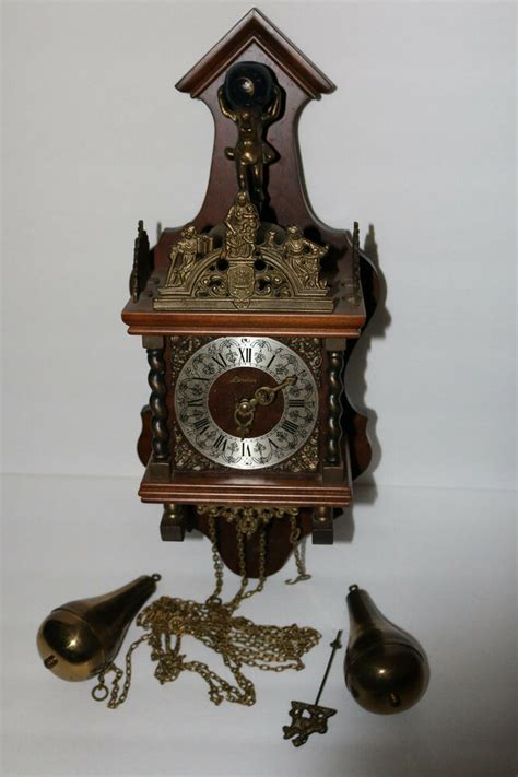 incredible vintage german  linden clock wancient