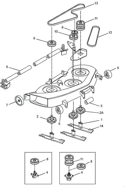 mtd 46 inch drive belt diagram mtd 46 quot to 54 quot deck parts 3 blades lawnmower pros