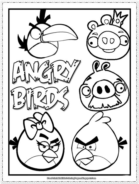 angry birds kids coloring pages  printable kids coloring pages