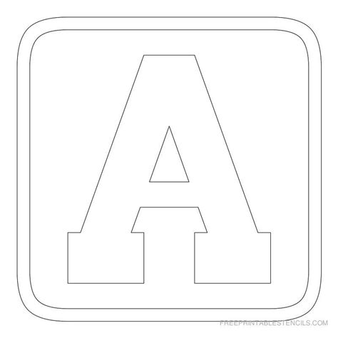 Block Letter Template Free by Free Printable Alphabet Stencils Printable Block Letter