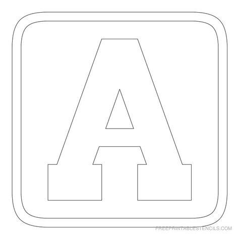 printable alphabet stencils printable block letter