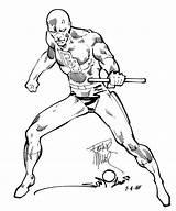 Daredevil Marvel Coloring Miller Comic Frank Comics Simonson Sketch 1981 Pages Artist Books Elektra Spiderman Printable Heroes Artists Walt Collaboration sketch template