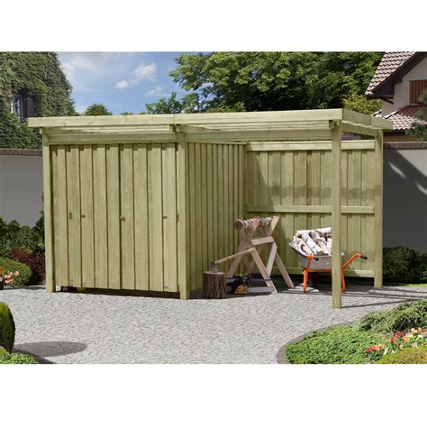 Gerätehaus Gartenschuppen Holz Typ 2 Flachdach Mit