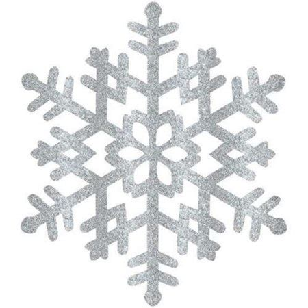 glitter silver snowflake decoration large  count