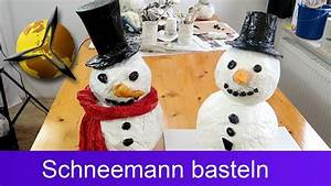 Schneemann Aus Socken Mit Reis : schneemann aus pappmaschee selber basteln youtube ~ A.2002-acura-tl-radio.info Haus und Dekorationen