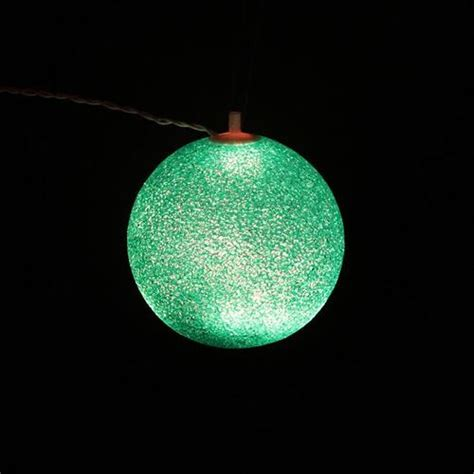 set   shimmering white lighted twinkling sphere party