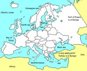 Europe Countries Map Quiz Numbered