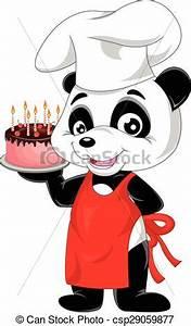 Gateau Anniversaire Dessin Animé : vecteurs illustration de g teau anniversaire panda dessin anim anniversaire ~ Melissatoandfro.com Idées de Décoration