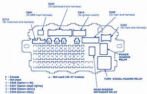 Honda Civic Ex 2003 Main Engine Fuse Box  Block Circuit Breaker Diagram