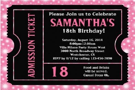vip pass  birthday invitation ideas  printable
