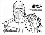 Thanos Infinity Avengers Coloring War Draw Drawing Pages Gauntlet Too Marvel Printable Drawings Drawittoo Coloriage sketch template