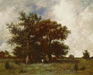 Fontainebleau Oak Painting by Jules Dupre