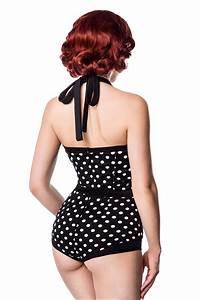 Daxon Maillot De Bain : maillot de bain r tro pin up 1 pi ce noir pois blancs ~ Melissatoandfro.com Idées de Décoration