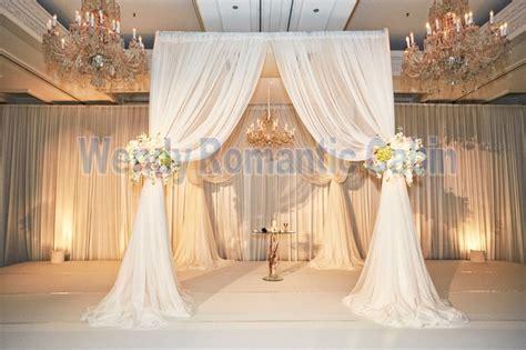 pure white mmm wedding ceremony chuppah square canopy