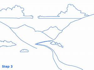 How to Draw a Cartoon Valley | Learn How To Draw Online