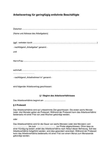 Arbeitsvertrag Vorlage Download Kostenlos Troncylta