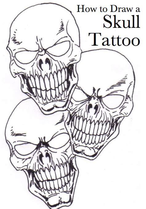 draw  skull tattoo tatring