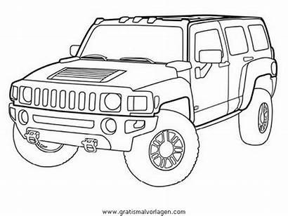Hummer Disegno Automobili Colorare Coloring Dibujo Kolorowanki