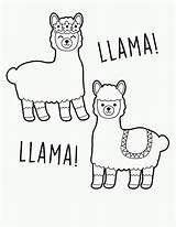 Llama Partywithunicorns Lama Alpaca Artículo Youngandtae sketch template