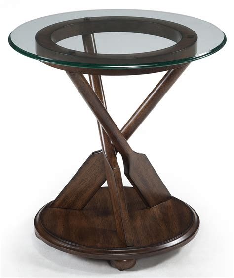 wolf table with glass table top round end table with three oar pedestal and tempered glass