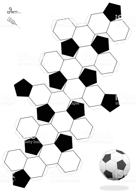 truncated icosahedron soccer ball template  making