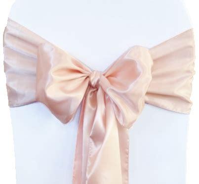 blush pink satin chair sashes chair bows ties wedding