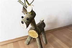 Basteln Mit Holz : selbstgebasteltes rentier aus holz eine portion gl ck ~ Lizthompson.info Haus und Dekorationen