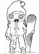 Coloring Pages Snowboarding Sports Winter Printable Clothes Adults Snowboard Numbers Childrens Coloringtop Getcolorings Pdf sketch template
