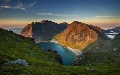 Nature, Rock, Mountain, Bay, Sky, Sea, Coast, Shadow