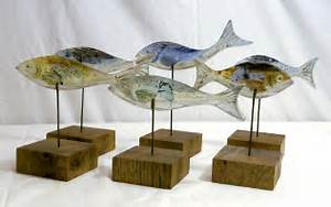 Fish (mounted) - Bobbie Coleman (Fused Glass) - £35 00