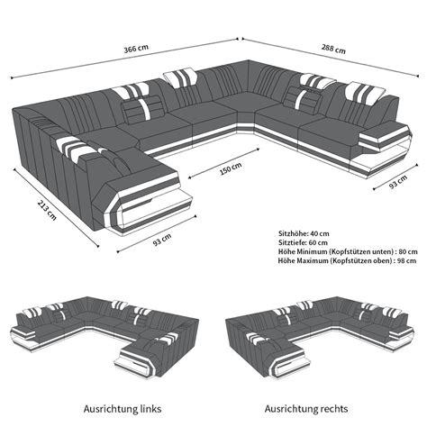 sofa ragusa  der  form  echtleder oder auch