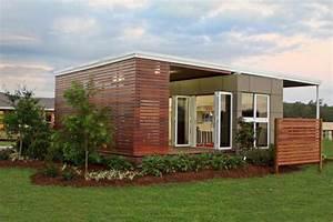 Container Haus Bauen : compact fertighaus ist mit einem versandbeh lter bauen ~ Michelbontemps.com Haus und Dekorationen
