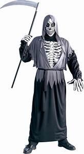 Halloween Skelett Kostüm : halloween skelett kost m f r erwachsene schnitter tod ~ Lizthompson.info Haus und Dekorationen