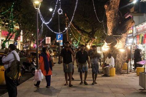 chennais pondy bazaar  citys  pedestrian plaza