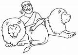 Daniel Den Coloring Lion Lions Pages 2008 Bible January Coloringhome sketch template