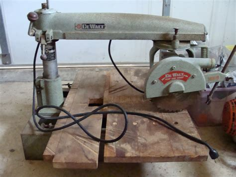 vintage dewalt radial arm band   pick   nj