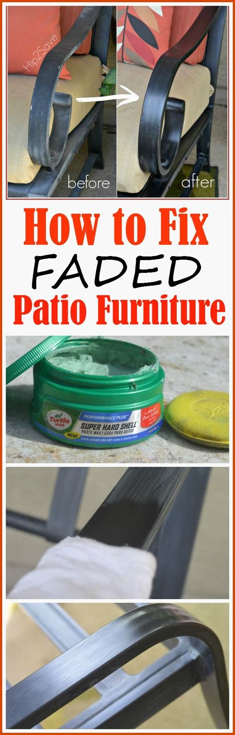 how to restore faded outdoor light fixtures how to fix faded aluminum patio furniture using just one
