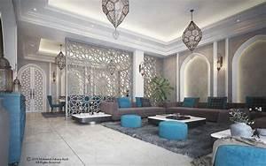 arabic, modern, interior, on, behance, in, 2020